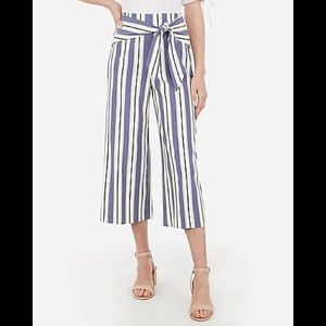 Express Knot Ft Paperbag Waist Cropped Culottes 4